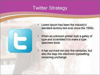 Woman Kisses Piggy Bank PowerPoint Template - Slide 9