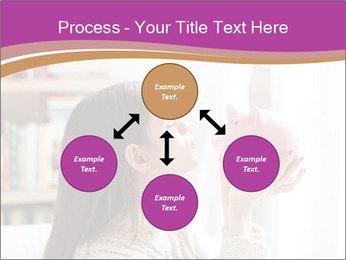 Woman Kisses Piggy Bank PowerPoint Template - Slide 91