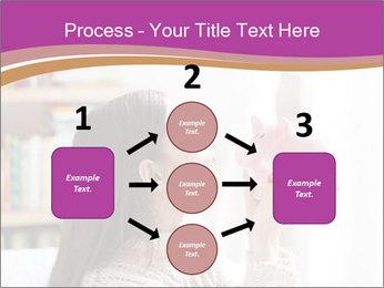 Woman Kisses Piggy Bank PowerPoint Template - Slide 92