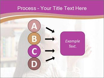 Woman Kisses Piggy Bank PowerPoint Template - Slide 94