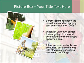 Woman Goes Shopping by Bike PowerPoint Template - Slide 17