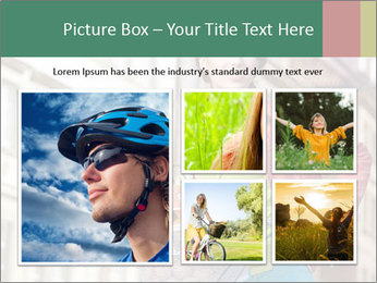 Woman Goes Shopping by Bike PowerPoint Template - Slide 19