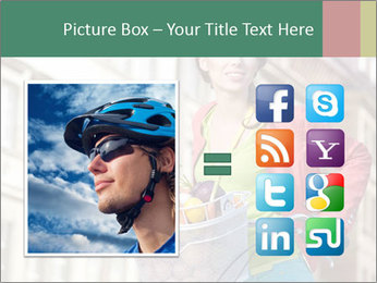 Woman Goes Shopping by Bike PowerPoint Template - Slide 21