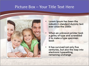 Parents With Daughter PowerPoint Template - Slide 13
