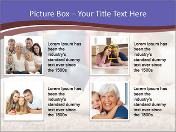 Parents With Daughter PowerPoint Template - Slide 14