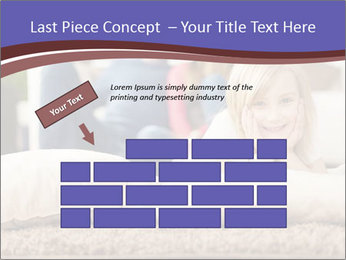 Parents With Daughter PowerPoint Template - Slide 46