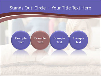 Parents With Daughter PowerPoint Template - Slide 76