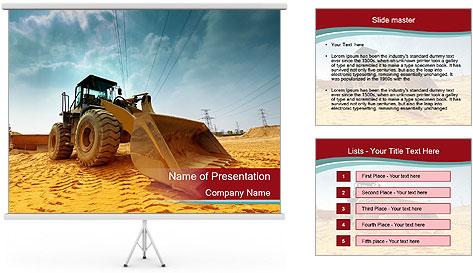 Huge Excavator PowerPoint Template
