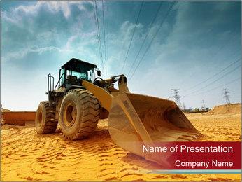 Huge Excavator PowerPoint Templates - Slide 1