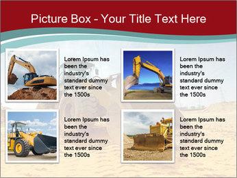 Huge Excavator PowerPoint Templates - Slide 14
