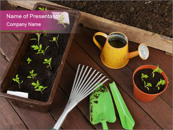 Plants Cuultivation PowerPoint Template