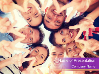 Students Group PowerPoint Template