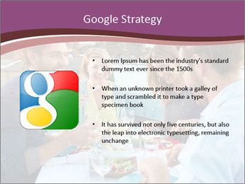 Friends Having Lunch Together PowerPoint Templates - Slide 10