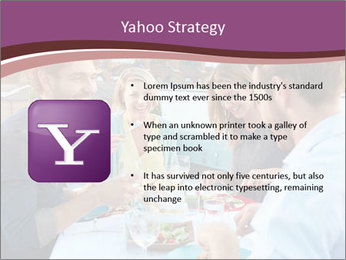 Friends Having Lunch Together PowerPoint Templates - Slide 11