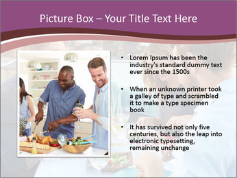 Friends Having Lunch Together PowerPoint Templates - Slide 13
