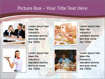 Friends Having Lunch Together PowerPoint Templates - Slide 14