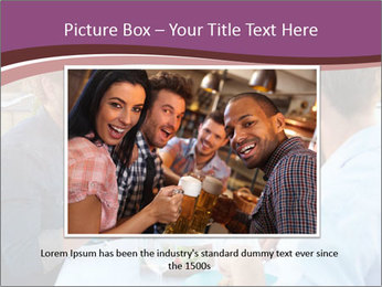 Friends Having Lunch Together PowerPoint Templates - Slide 16
