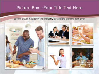 Friends Having Lunch Together PowerPoint Templates - Slide 19