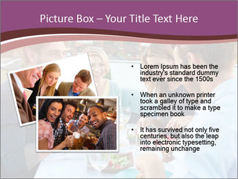 Friends Having Lunch Together PowerPoint Templates - Slide 20