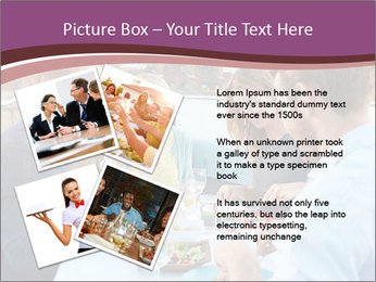 Friends Having Lunch Together PowerPoint Templates - Slide 23