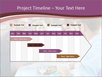 Friends Having Lunch Together PowerPoint Templates - Slide 25