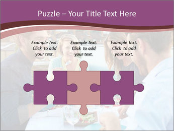 Friends Having Lunch Together PowerPoint Templates - Slide 42