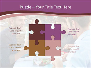 Friends Having Lunch Together PowerPoint Templates - Slide 43