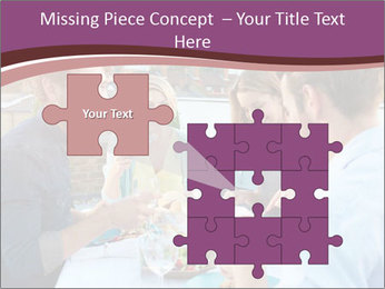 Friends Having Lunch Together PowerPoint Templates - Slide 45