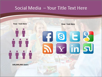Friends Having Lunch Together PowerPoint Templates - Slide 5
