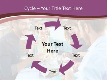 Friends Having Lunch Together PowerPoint Templates - Slide 62
