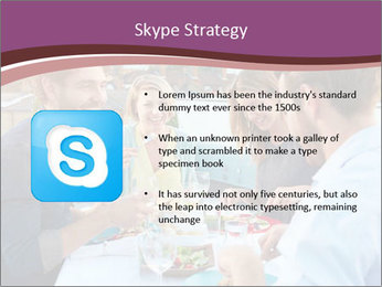 Friends Having Lunch Together PowerPoint Templates - Slide 8