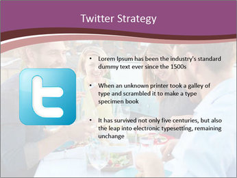Friends Having Lunch Together PowerPoint Templates - Slide 9