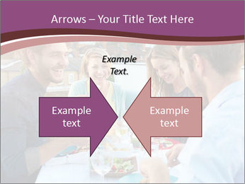 Friends Having Lunch Together PowerPoint Templates - Slide 90