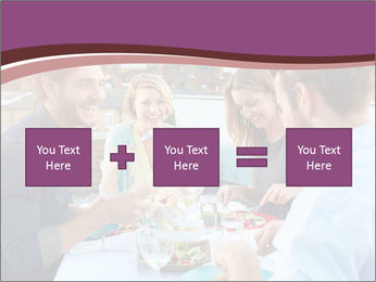 Friends Having Lunch Together PowerPoint Templates - Slide 95