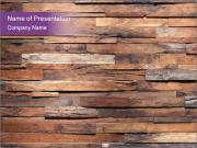 Wooden Deck PowerPoint Templates