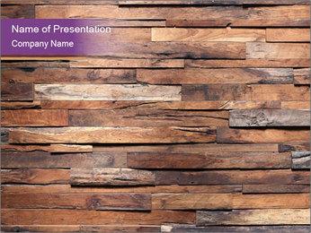 Wooden Deck PowerPoint Template - Slide 1