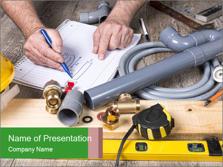 Building Plan Work PowerPoint Templates