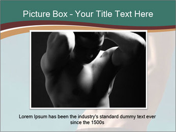 Man With Strong Abs PowerPoint Templates - Slide 16