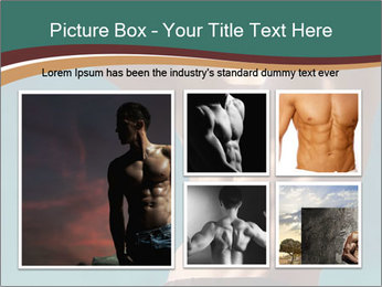 Man With Strong Abs PowerPoint Templates - Slide 19