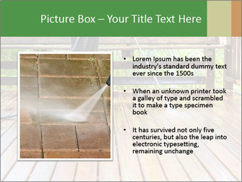 Man Cleans Wooden Terrace PowerPoint Template - Slide 13