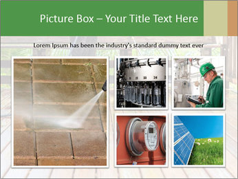 Man Cleans Wooden Terrace PowerPoint Template - Slide 19