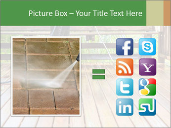 Man Cleans Wooden Terrace PowerPoint Template - Slide 21