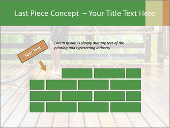 Man Cleans Wooden Terrace PowerPoint Template - Slide 46