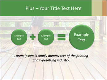 Man Cleans Wooden Terrace PowerPoint Template - Slide 75
