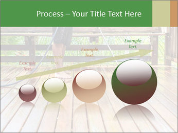 Man Cleans Wooden Terrace PowerPoint Template - Slide 87