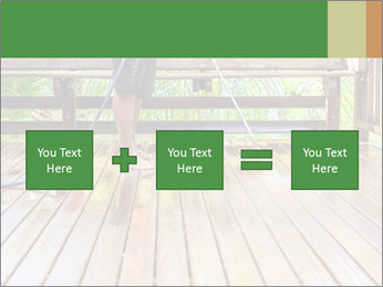 Man Cleans Wooden Terrace PowerPoint Template - Slide 95