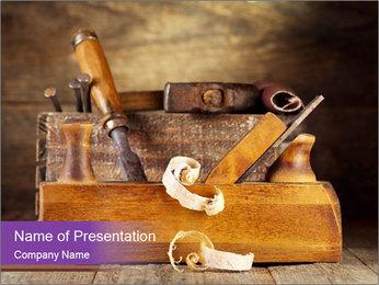 Wood Work PowerPoint Template - Slide 1