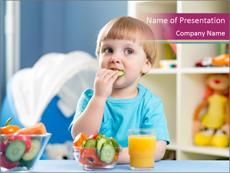 Nutritious Food For Kids PowerPoint Templates