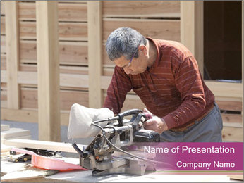 Carpenter PowerPoint Template - Slide 1