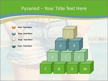 Stylish denim shorts PowerPoint Template - Slide 31